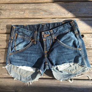 True Religion Raw Hem Studded Shorts
